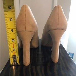 Shoes - Moda Tan Suede Peep Toe Heel, 6. NWOT.